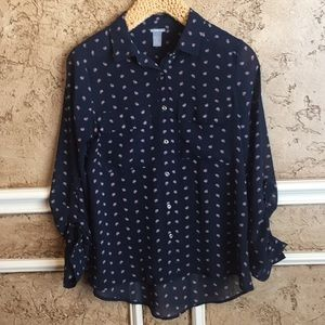 Charlotte Russe Navy Blouse